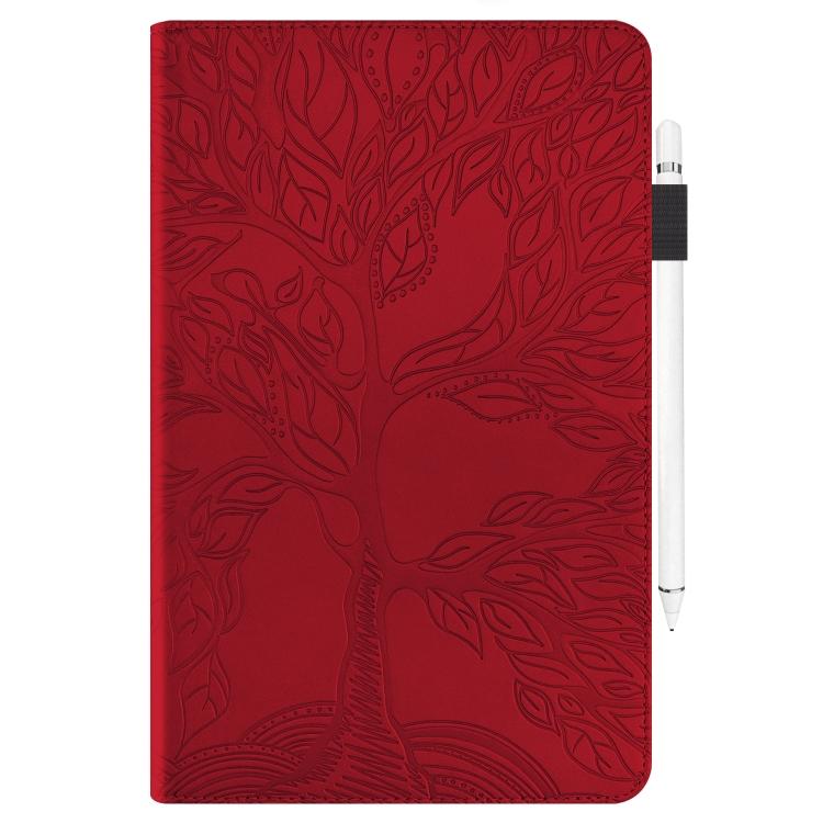 Красный кожаный чехол-книжка для Айпад 9.7