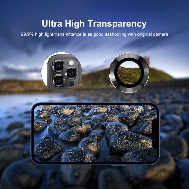 Защитное стекло на камеру ENKAY Hat-Prince для Айфон 12 Pro Max - черное