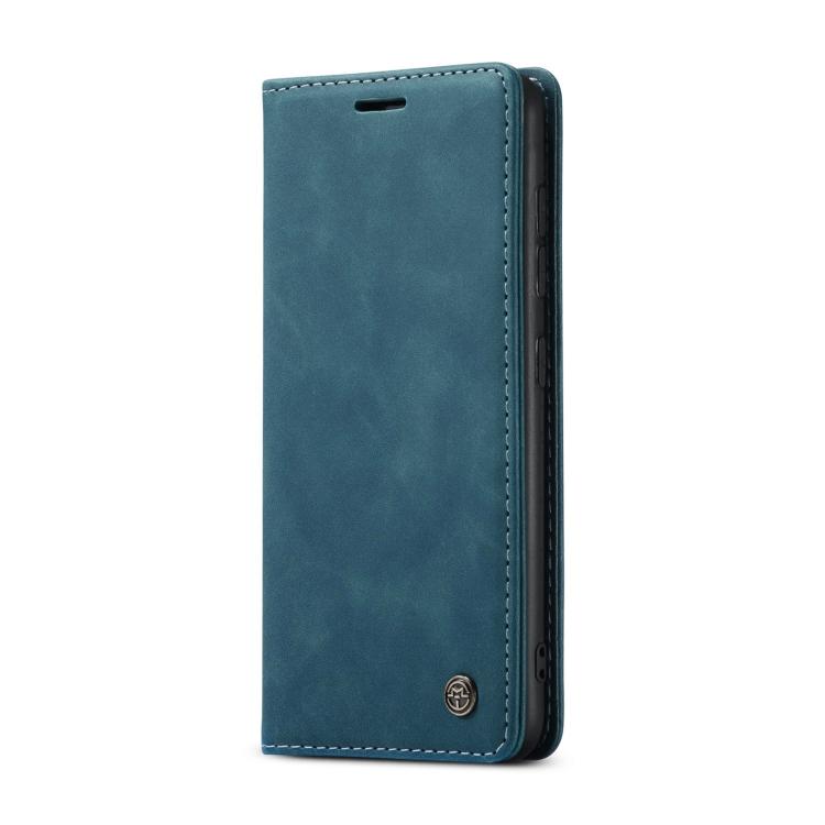 Синий кожаный чехол-книжка для Самсунг Гелекси С20 ФЕ