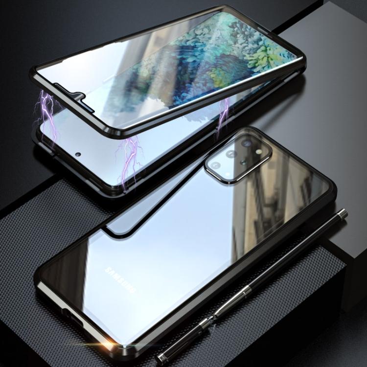 Двусторонний магнитный чехол Magnetic Angular на Samsung Galaxy S20 Plus - черный