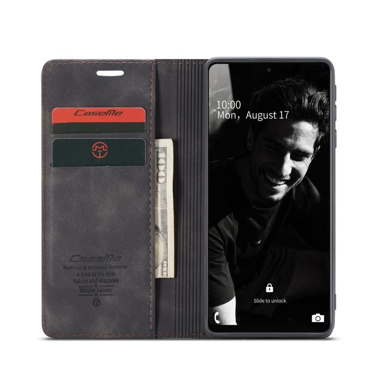 Чехол-книжка CaseMe 013 Series на Самсунг Галакси A72 - черный