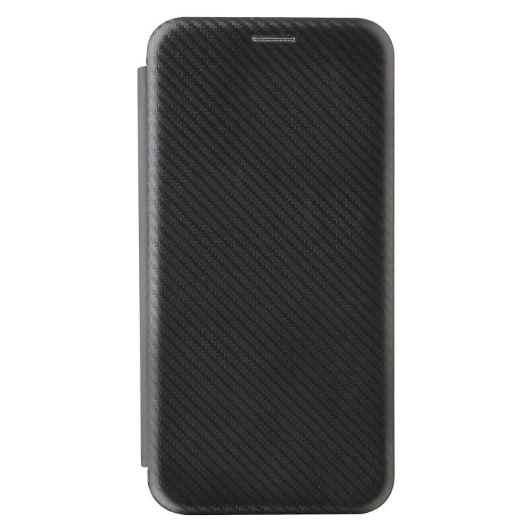 Чехол-книжка Carbon Fiber Texture на Xiaomi Mi 10S - черный