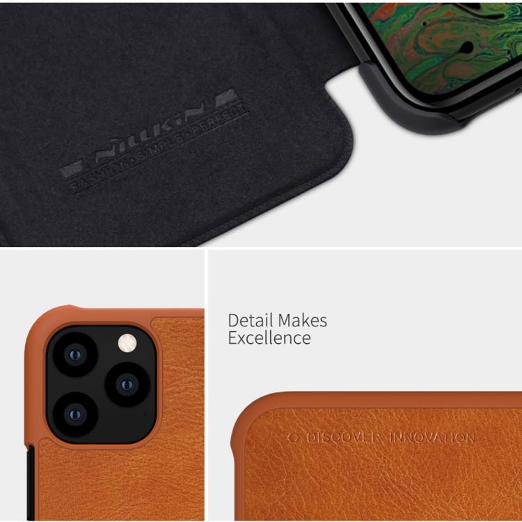 Чехол- книжка NILLKIN QIN Series  на Айфон 11 Про- коричневый