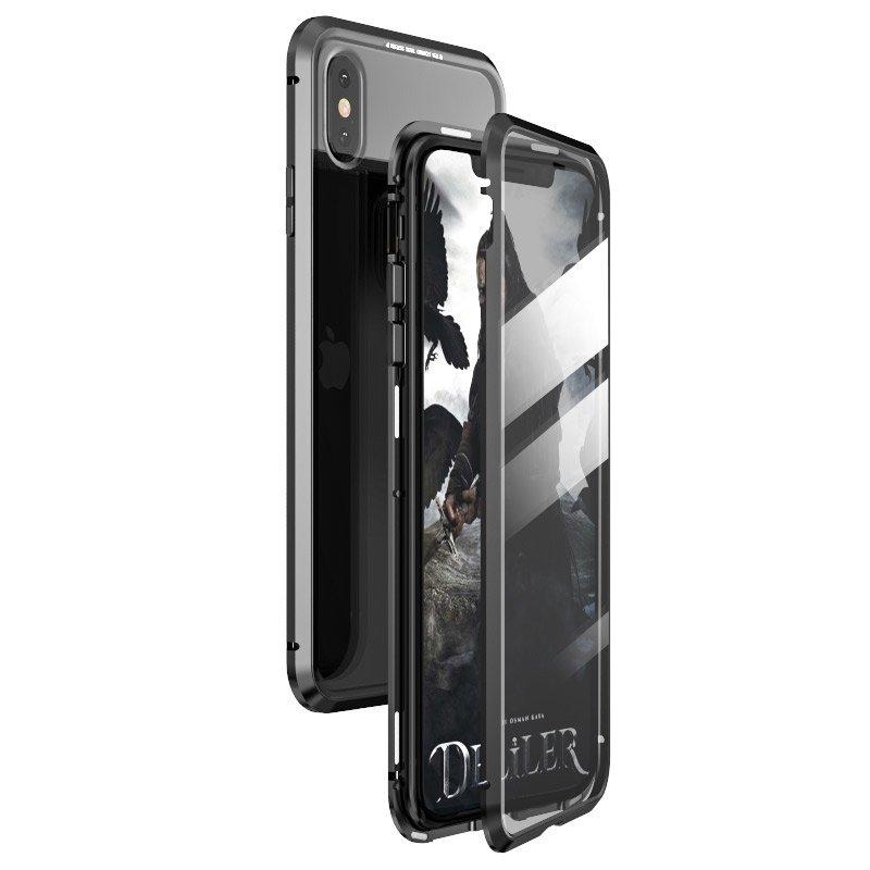 Магнитный чехол-книжка с каленого стекла для Айфон 11