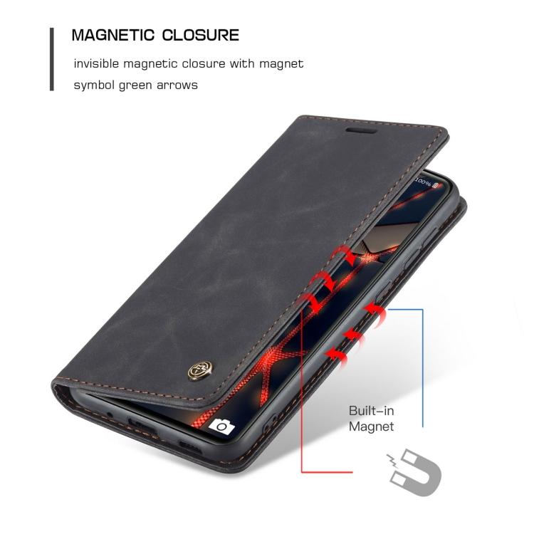Черный чехол-книжка с магнитной защелкой для Самсунг Гелекси С20 ФЕ черного цвета