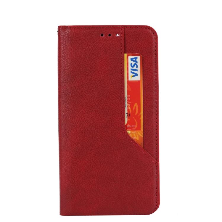 Чехол-книжка HMC Magnetic для Xiaomi Redmi Note 10 - красный