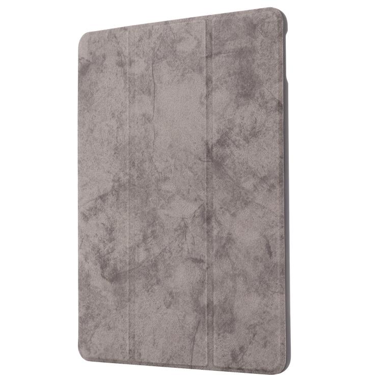 Чехол-книжка GEBEI Cloth Texture Horizontal Flip на iPad 10.2 - серый