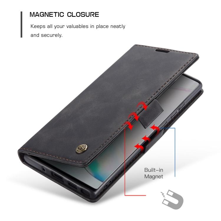 Черный чехол-книжка с магнитной защелкой для Самсунг Гелекси Нот 10 Лайт