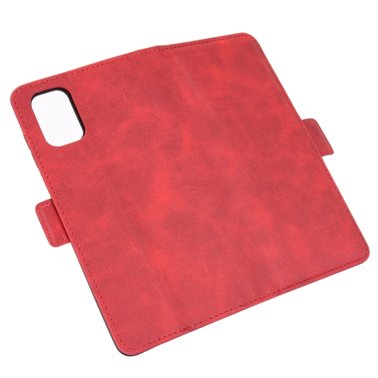 Чехол-книжка Dual-side Magnetic Buckle для Samsung Galaxy M51 - красный