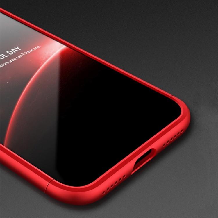 3D чехол на Айфон  X / XS -черно- красный