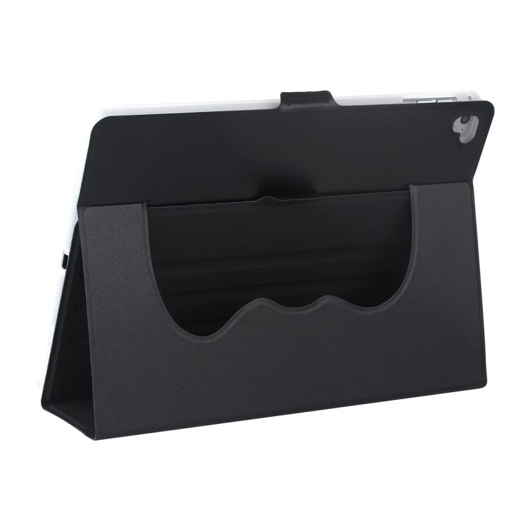 Черный защитный чехол-книжка с складной подставкой для Айпад Аир 2