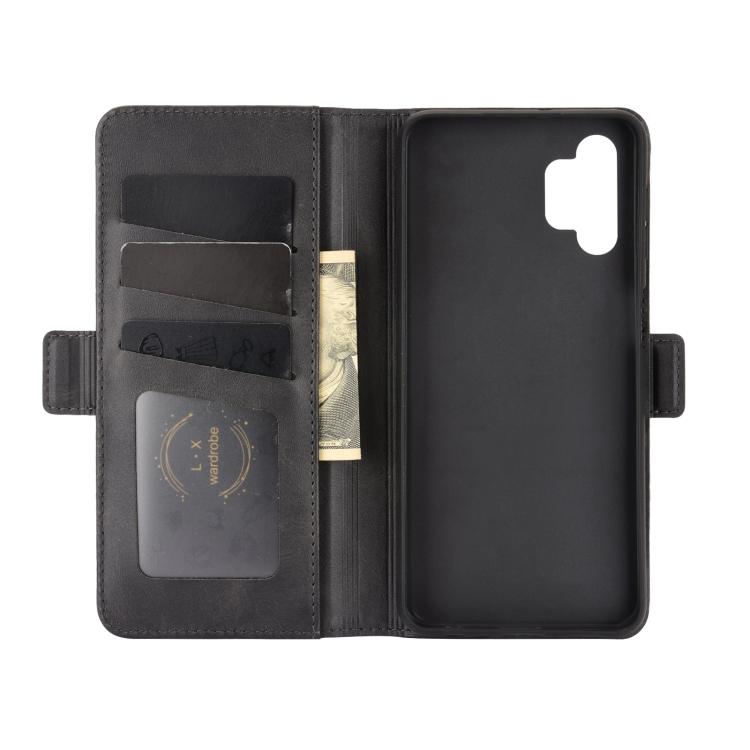 черный чехол-книжка со слотами для картна Samsung Galaxy A32