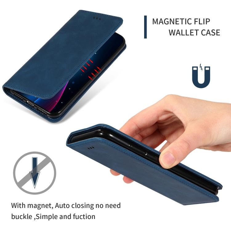 Синий чехол-книжка с магнитами кредиток Business на Самсунг Галакси А51
