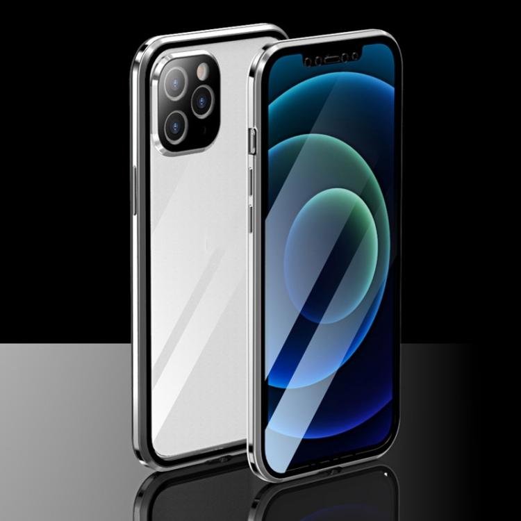 Магнитный двухсторонний чехол на Айфон 12 Про Макс