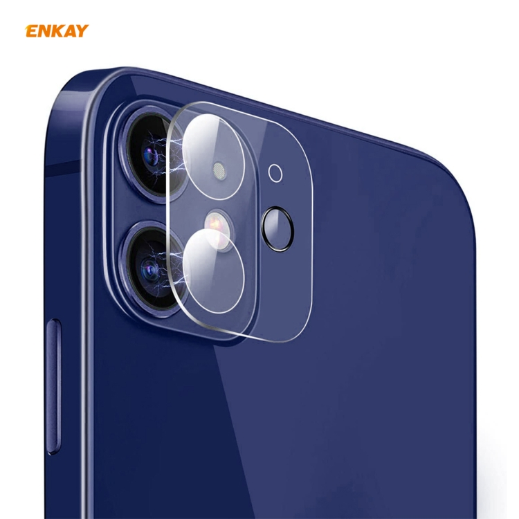 Чисто бело защитное стекло на камеру для Айфон 12 Мини