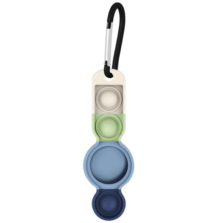 Брелок Color-contrast с карабином для AirTag - синий