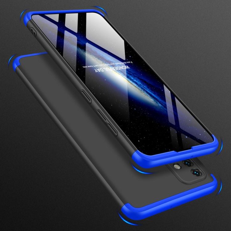 Противоударный чехол GKK Three Stage Splicing Full Coverage на Samsung Galaxy A51 - черно-синий