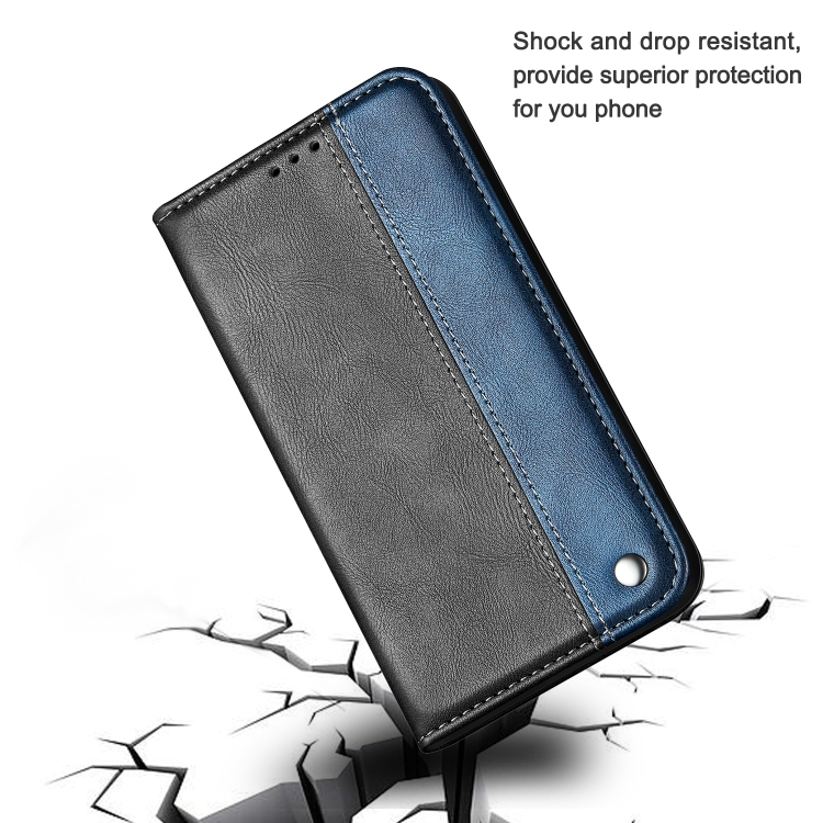 Чехол-книжка Business Solid Color для iPhone 13 - синий