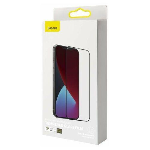 Белое защитное стекло для Айфон 12 Про Макс