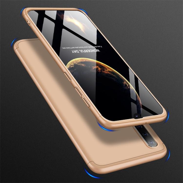 Чехол GKK Three Stage Splicing Full Coverage для  Samsung Galaxy A50/A30s/A50s-золотой