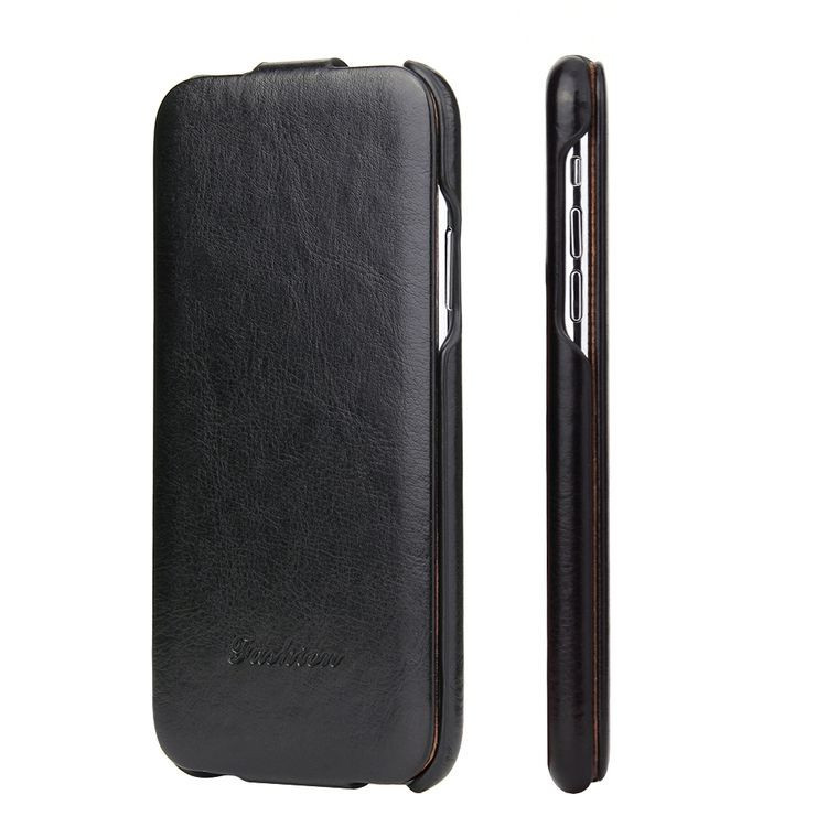 Кожаный флип-чехол Fierre Shann Retro Oil Wax Texture на iPhone Xs Max 6.5-черный