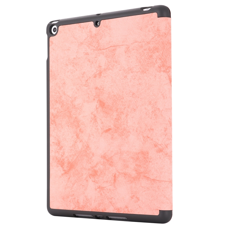 Чехол-книжка GEBEI Cloth Texture Horizontal Flip на iPad 8/7 10.2 (2019/2020) - розовый