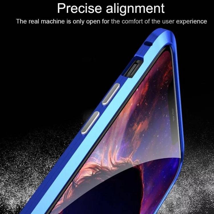 Прозрачный магнитный чехол с серебристыми вставками из двух частей на Айфон 11 Про Макс