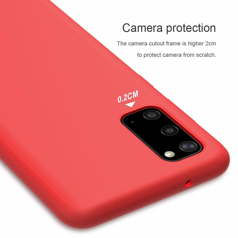 Защитный чехол накладка красного цвета для Самсунг Гелекси С20
