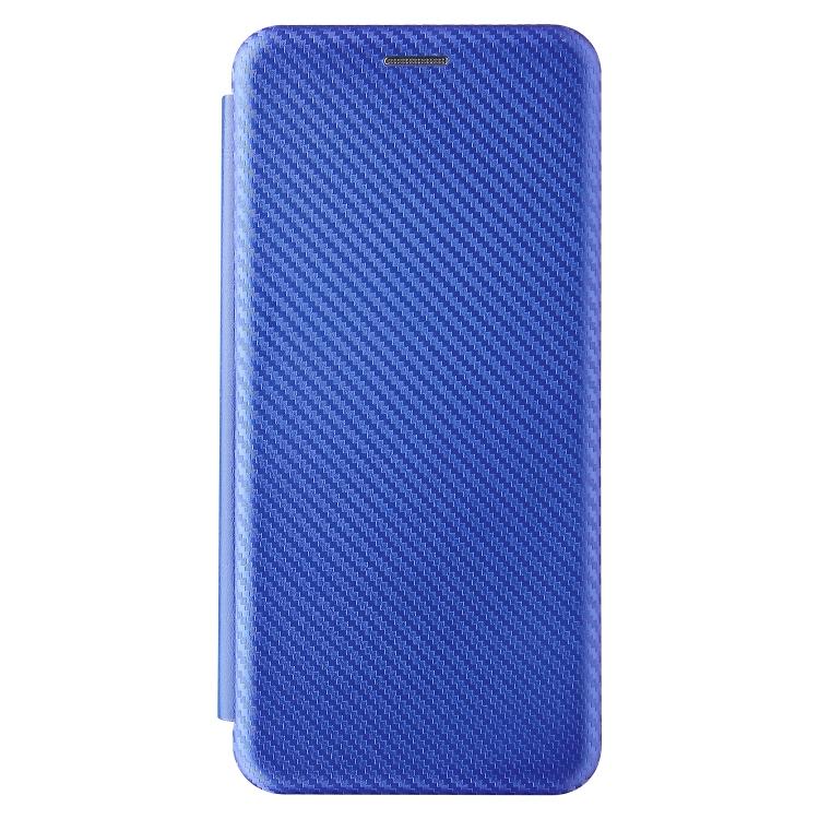 Чехол-книжка Carbon Fiber Texture на Xiaomi Redmi Poco F3/Redmi K40/K40 Pro - синий