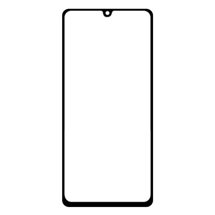 Защитное стекло 2.5D Full Glue Full на Samsung Galaxy A41 - прозрачно-черное