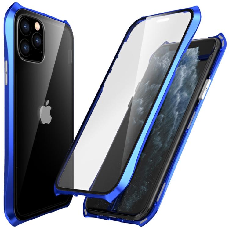 Двусторонний магнитный чехол Magnetic  Shell Series Айфон 11 Про Макс - синий