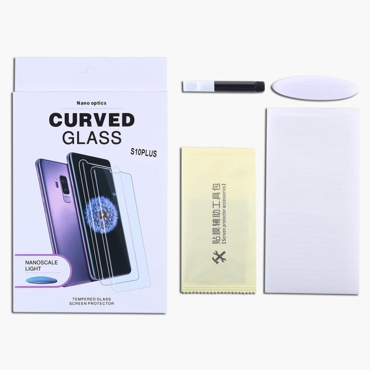 Защитное стекло c уф-лампой на Samsung s10