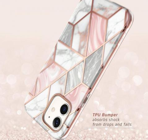 Чехол накладка мраморного цвета для Айфон 12 Мини