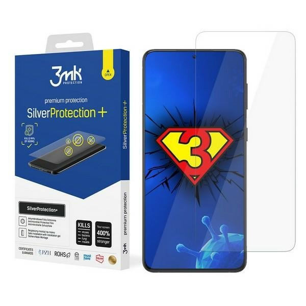 Защитная антимикробная пленка 3MK Silver Protect для Samsung Galaxy S21
