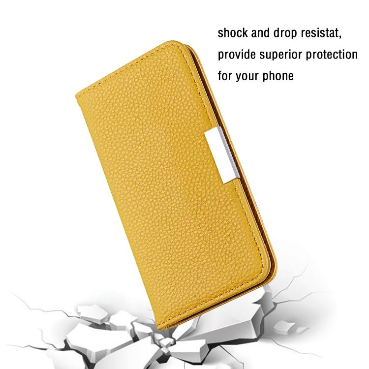 Желтый чехол-книжка Solid Color на iPhone 12/12 Pro