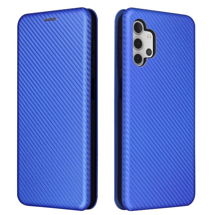Чехол-книжка карбон слоты для карт для Samsung Galaxy A32