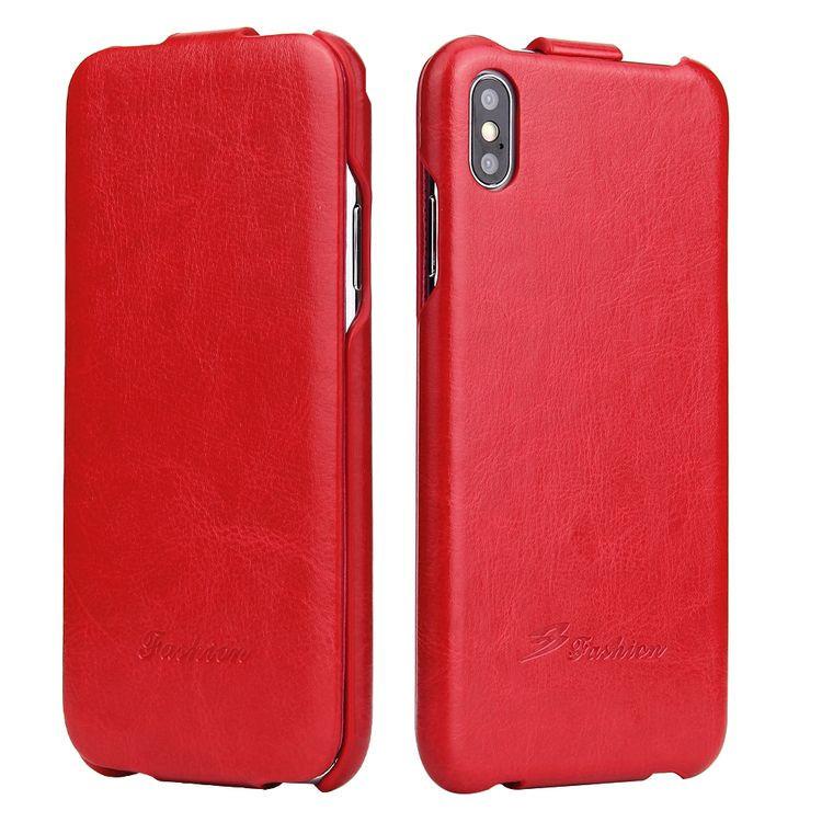 Кожаный красный чехол на Айфон Xs Макс