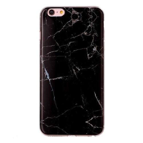 Чехол Marbling черного цвета для Айфон 6/ 6s похож на мрамор