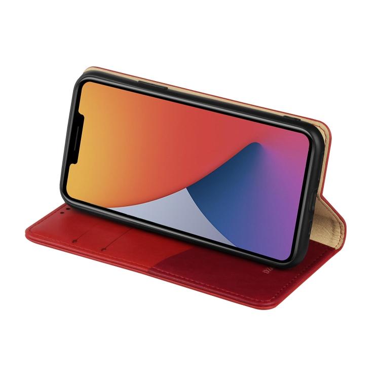 Чехол-книжка с подставкой на Айфон 12 Мини - красный