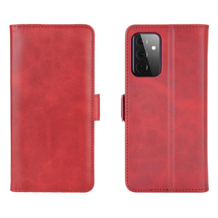 Кожаный чехол-книжка красного цвета для Самсунг Гелекси А72