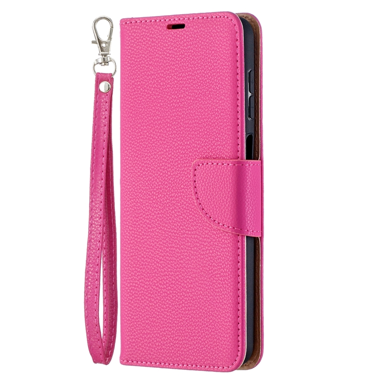 Чехол-книжка Litchi пурпурно-красный для Samsung Galaxy A12/M12