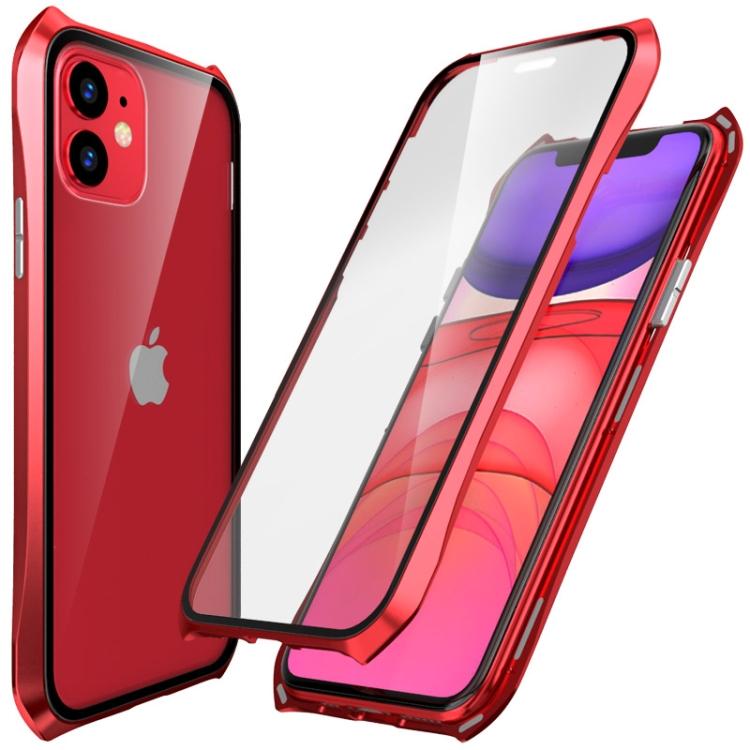 Двусторонний магнитный чехол Magnetic  Shell Series для iPhone 11 - красный