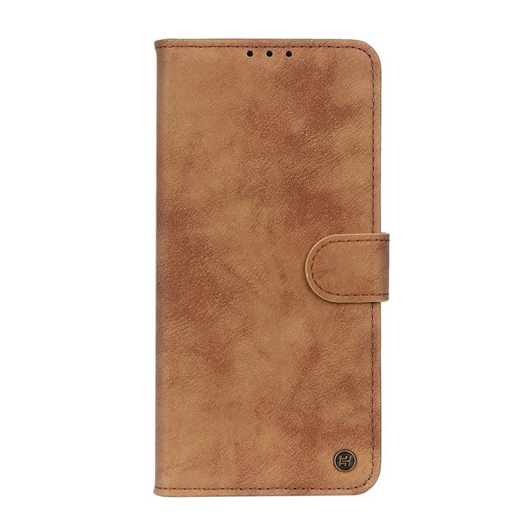 Коричневый кожаный чехол-книжка для Сяоми Ми 10Т Лайт