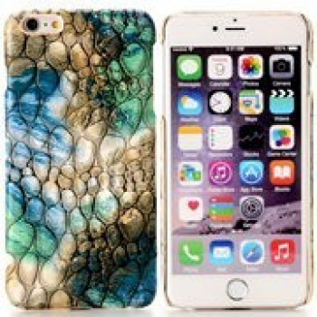 Пластиковый Чехол Coloured Drawing Blue and Green Cobblestone для iPhone 6, 6S