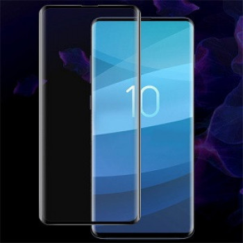 Защитное стекло IMAK 9H 3D Curved Surface на Samsung Galaxy S10, Support Fingerprint Unlocking- черное
