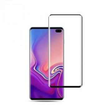 3D  защитное стекло mocolo 0.33mm 9H на Samsung Galaxy S10, Fingerprint Unlock Is Not Supported -черное