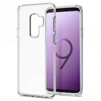 Оригинальный чехол Spigen Liquid Crystal на Samsung Galaxy S9+ Plus Crystal Clear