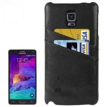 Кожаный Чехол Fashion Deluxe Retro Grey для Samsung Galaxy Note 4/ N910