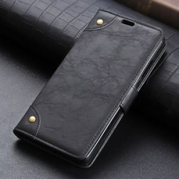 Чехол- книжка Copper Buckle Side-corner Fixed Retro Texture  на Samsung Galaxy S10e/G970-черный