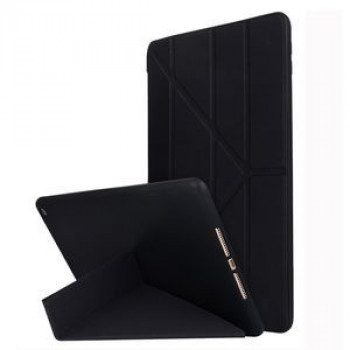 Чехол- книжка Solid Color Trid-fold Deformation Stand на iPad 8/7 10.2 (2019/2020)-черный